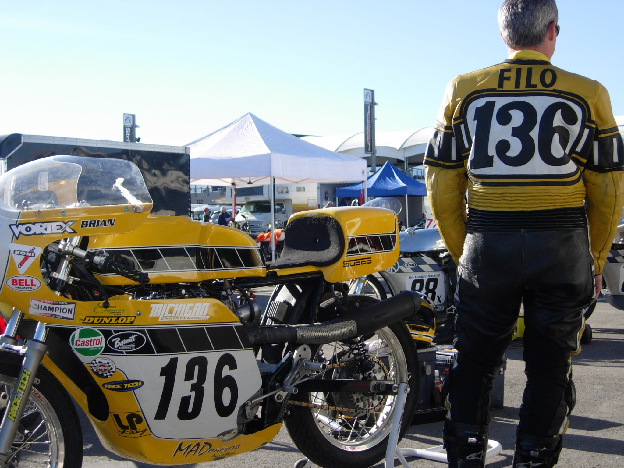The base bike was a 1980 xs650 in a very poor state cylinders where -  Race Bike